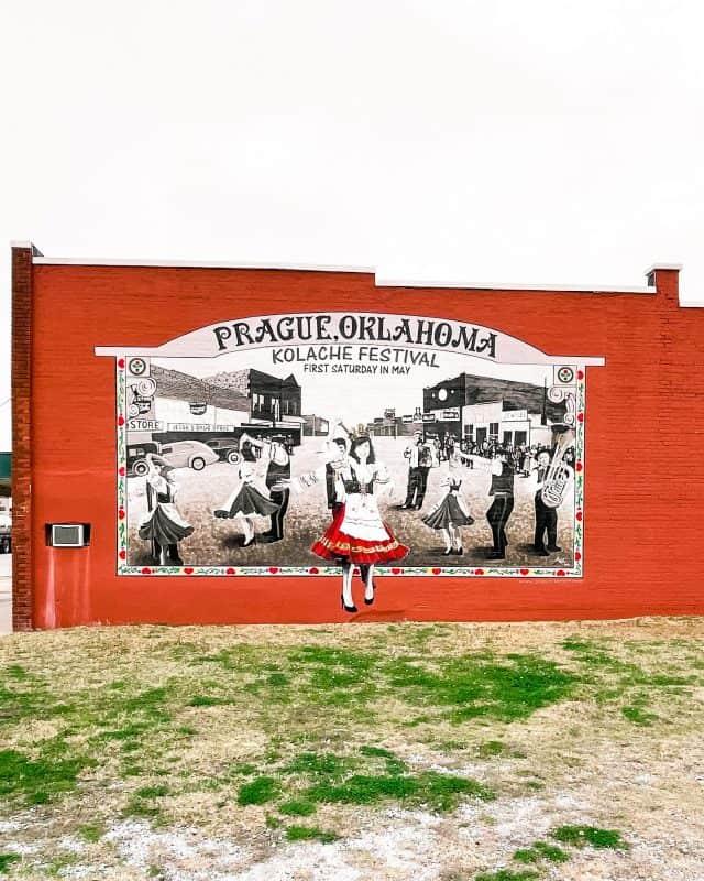 Oklahoma - Prague - Kolaches Festival Mural