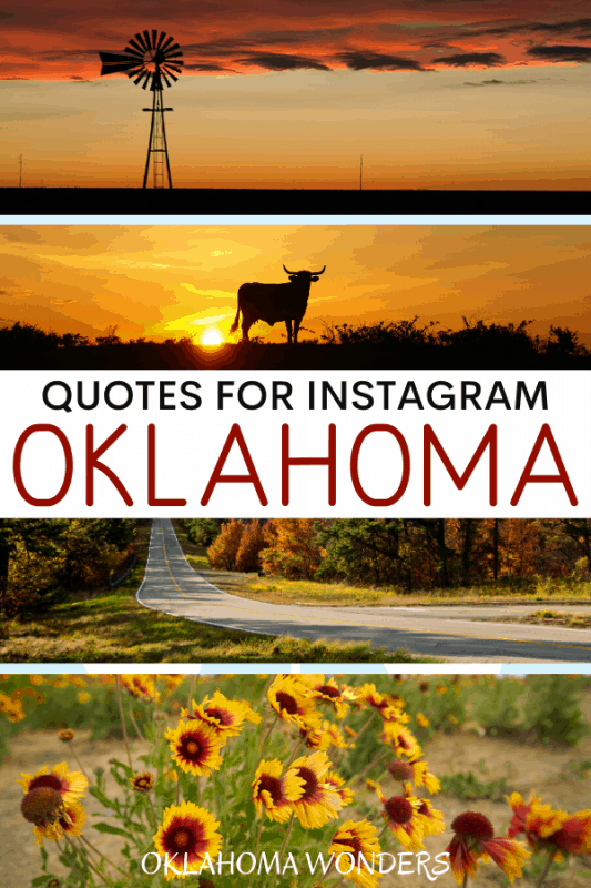 Quotes about Oklahoma for Oklahoma Instagram Captions