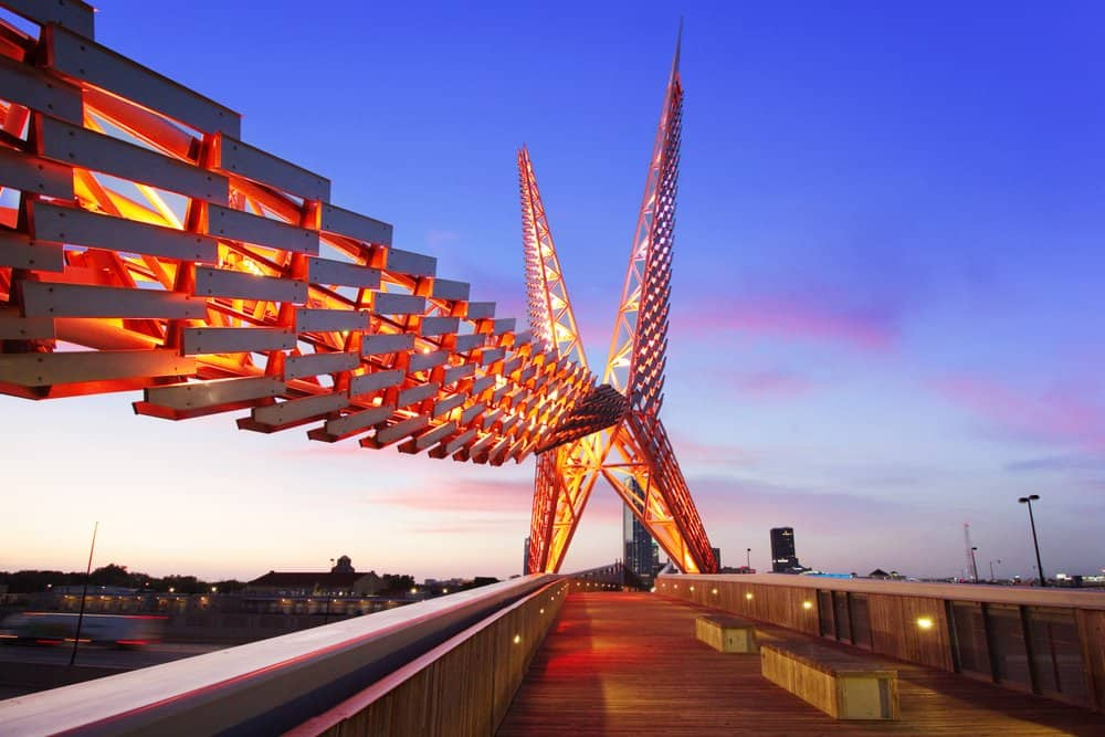 USA - Oklahoma - Skydance Bridge - Scissortail Oklahoma City