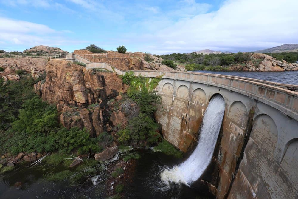 USA - Oklahoma - Quanah Parker Dam in the Wichita Wildlife Refuge in Oklahoma