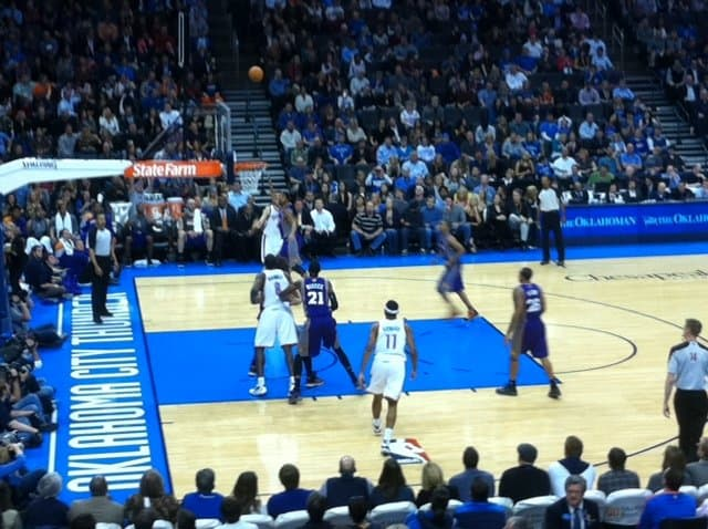 USA - Oklahoma - Oklahoma City - Chesapeake Arena OKC Thunder Game