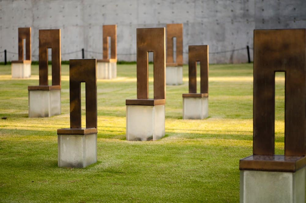USA - Oklahoma - Oklahoma City - Oklahoma City Memorial Chairs