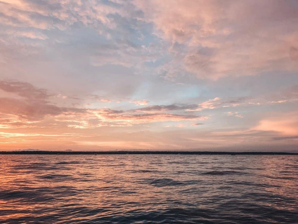 Oklahoma - Sunset on Lake Texoma 4th of July
