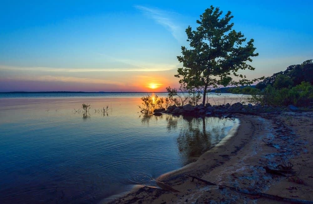 USA - Oklahoma - Lake Eufaula sunset, Oklahoma, USA