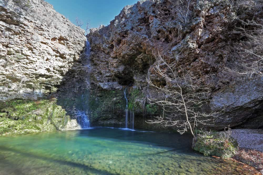 USA - Oklahoma - Dripping Springs Falls at Natural Falls State Park in Oklahoma
