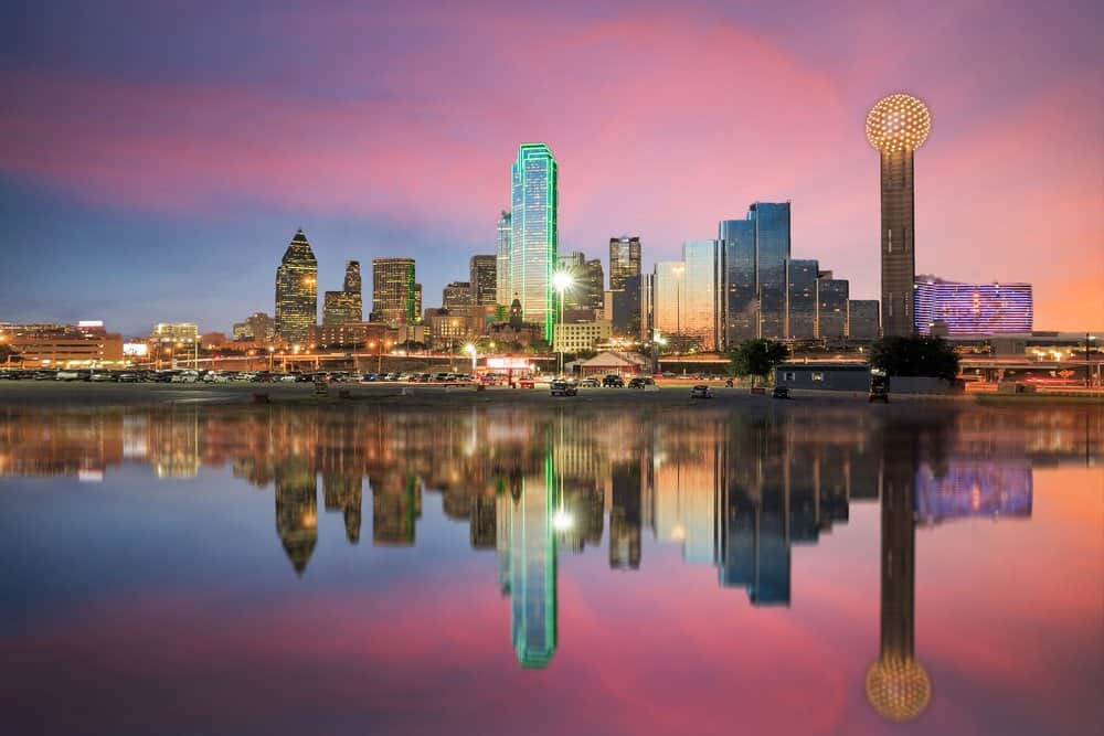 USA - Texas - Dallas Skyline at Sunset