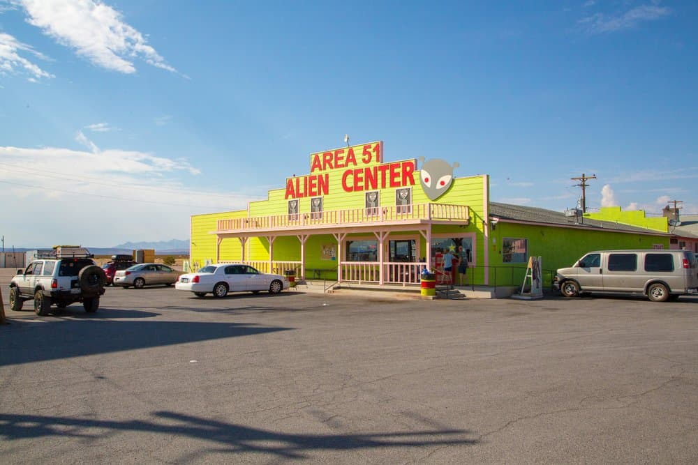 USA - New Mexico - Roswell - Area 51 Alien Center shop and gas station near death valley