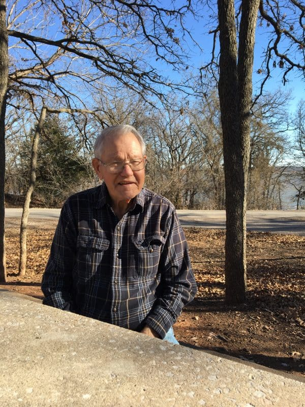 USA - Oklahoma - Arcadia - Melvin Schemm is one of the dedicated volunteers who helps keep the Arcadia Round Barn open to visitors seven days a week. Photo by Kimberly Burk, Round Barn publicist and volunteer coordinator. Photo courtesy of the Arcadia Historical and Preservation Society.