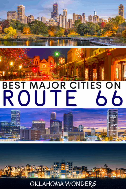 Major Cities on Route 66