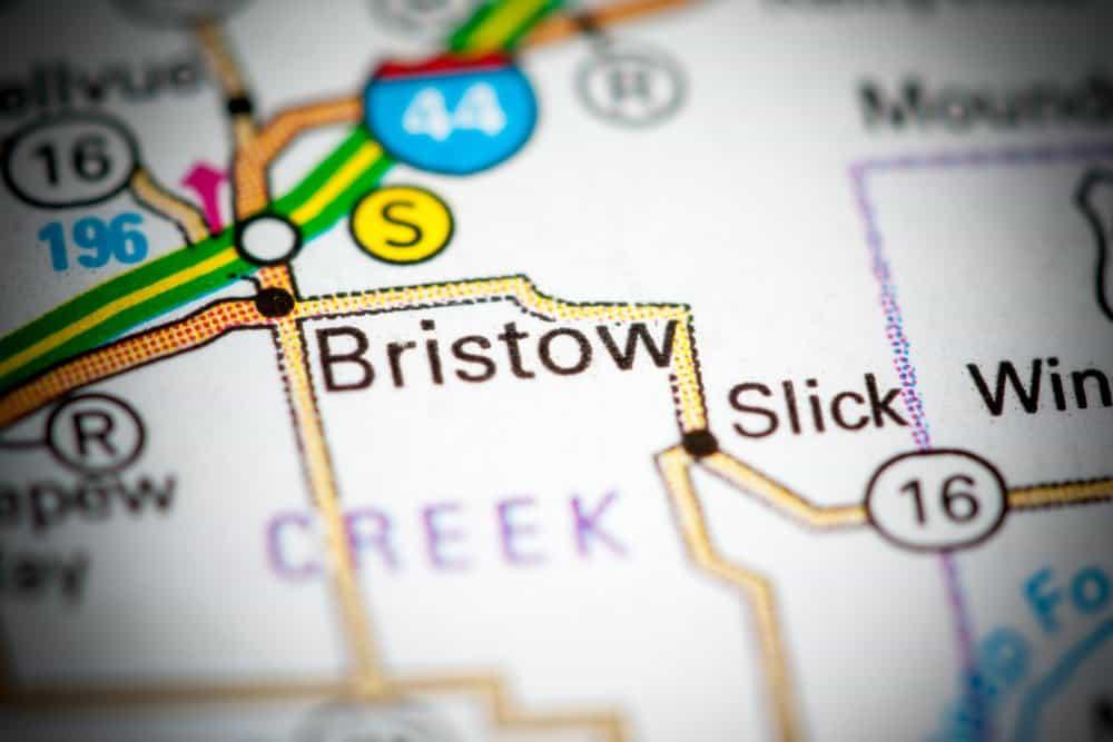 Oklahoma - Bristow - Map