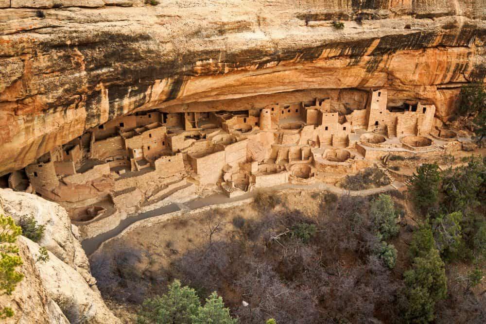 Cliff Palace ruins at Mesa Verde, Colorado, USA.