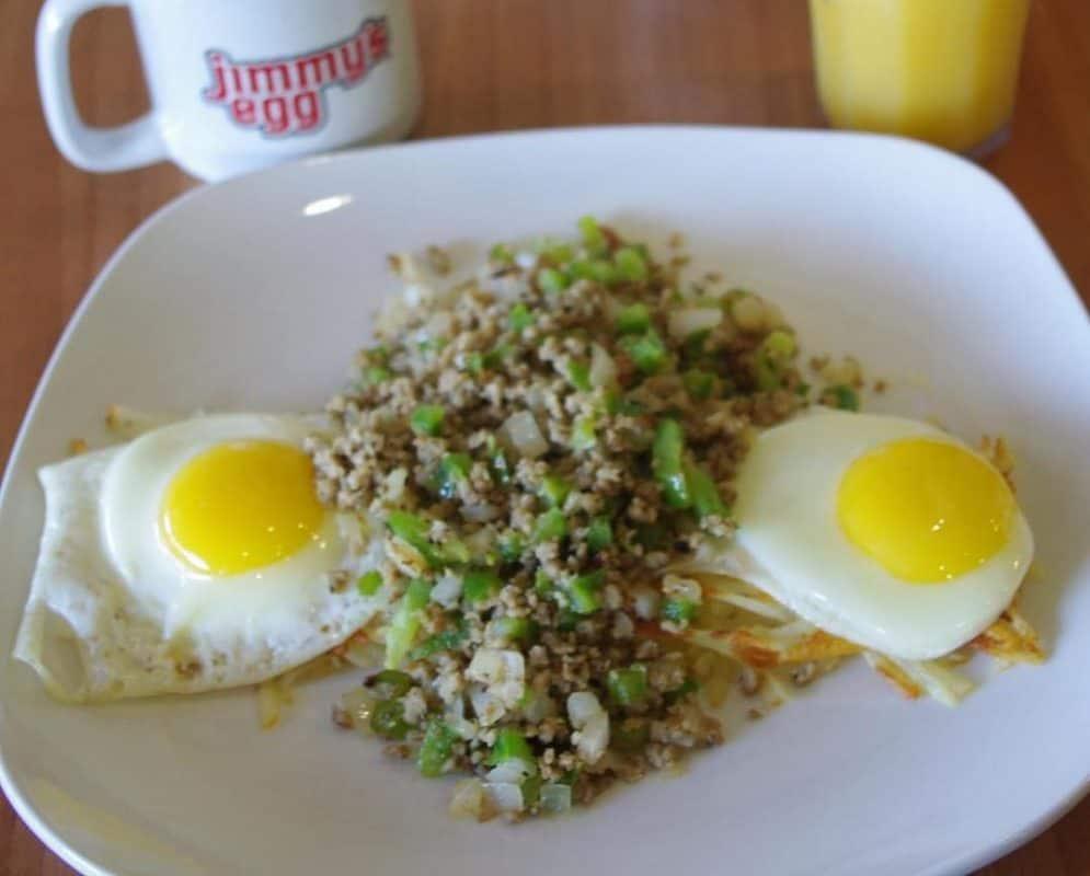 Oklahoma Breakfasts - Jimmys Egg Oklahoma Garbage Breakfast