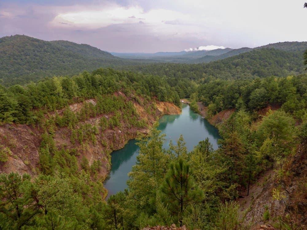USA - Arkansas - The Blue Hole In The Ouachita Mountains. Caddo Gap, Arkansas.