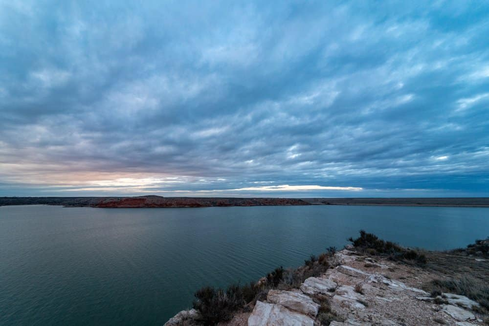 USA - Texas - Sunset at Lake Meredith National Recreation Area in the Texas Panhandle