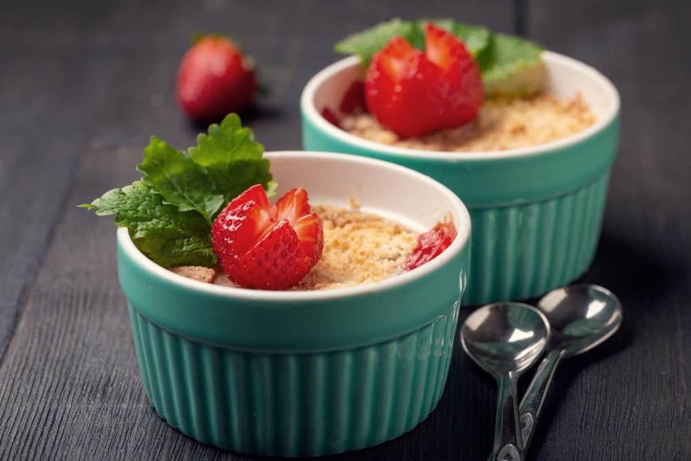 Summer dessert with strawberry. Homemade bakery.