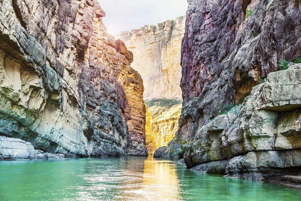 USA - Texas - Santa Elena Canyon and Rio Grande river at Big Bend National Park