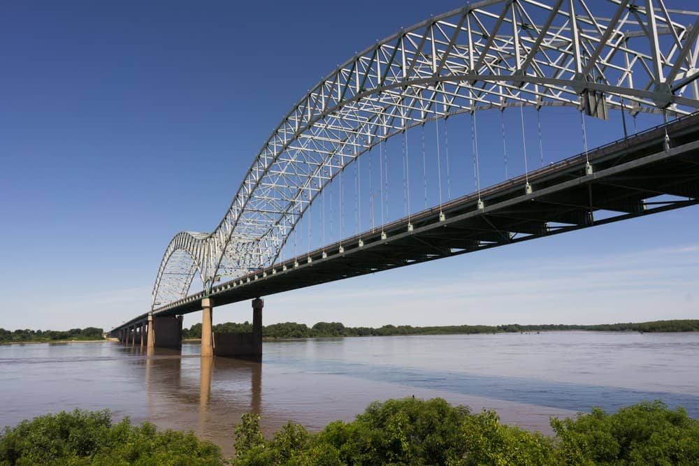 USA - Arkansas - Hernando de Soto Bridge Spanning Mississippi River Arkansas Tennessee