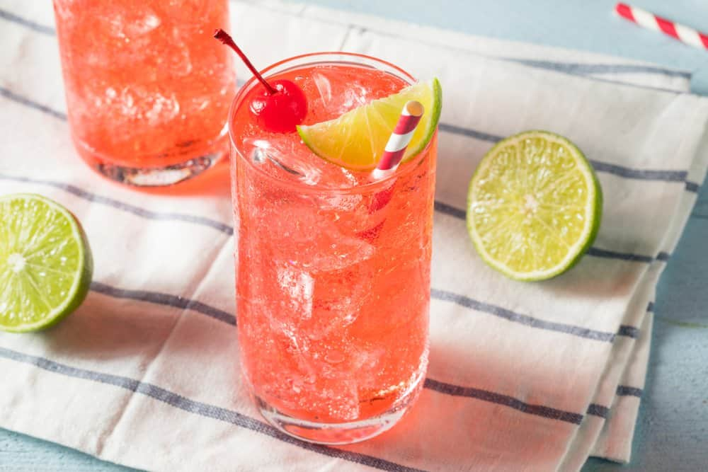 Sweet Homemade Cherry Limeade in a Glass
