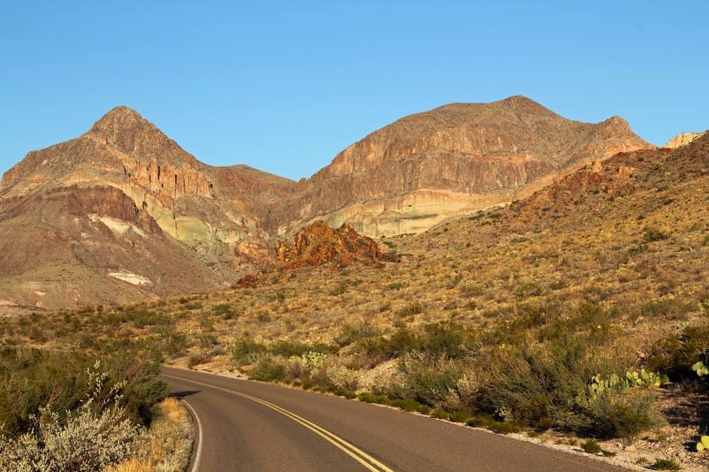 USA - Texas - Ross Maxwell Scenic Drive, Big Bend National Park, Texas