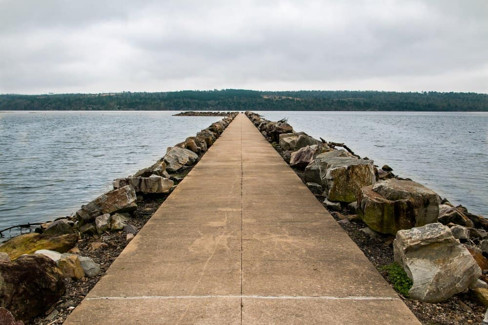 USA - Arkansas - Lake Dardanelle Jetty on a Cloudy Day