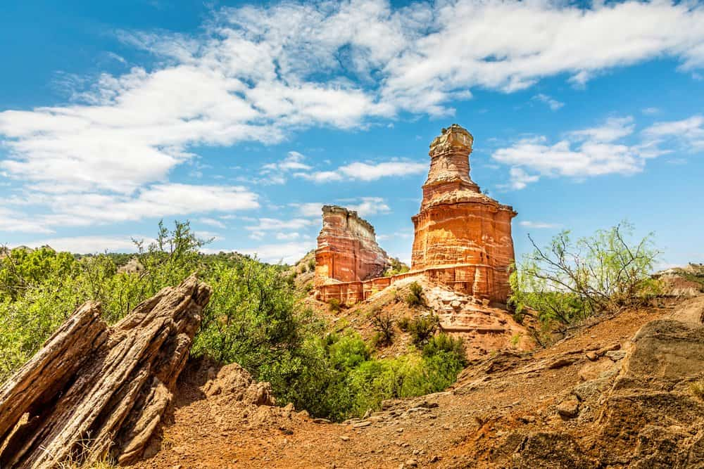 USA - Texas - The famous Lighthouse Rock at Palo Duro Canyon State Park, Texas