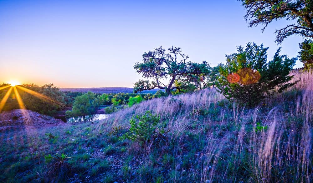 USA - Texas - landscapes around willow city loop texas at sunset