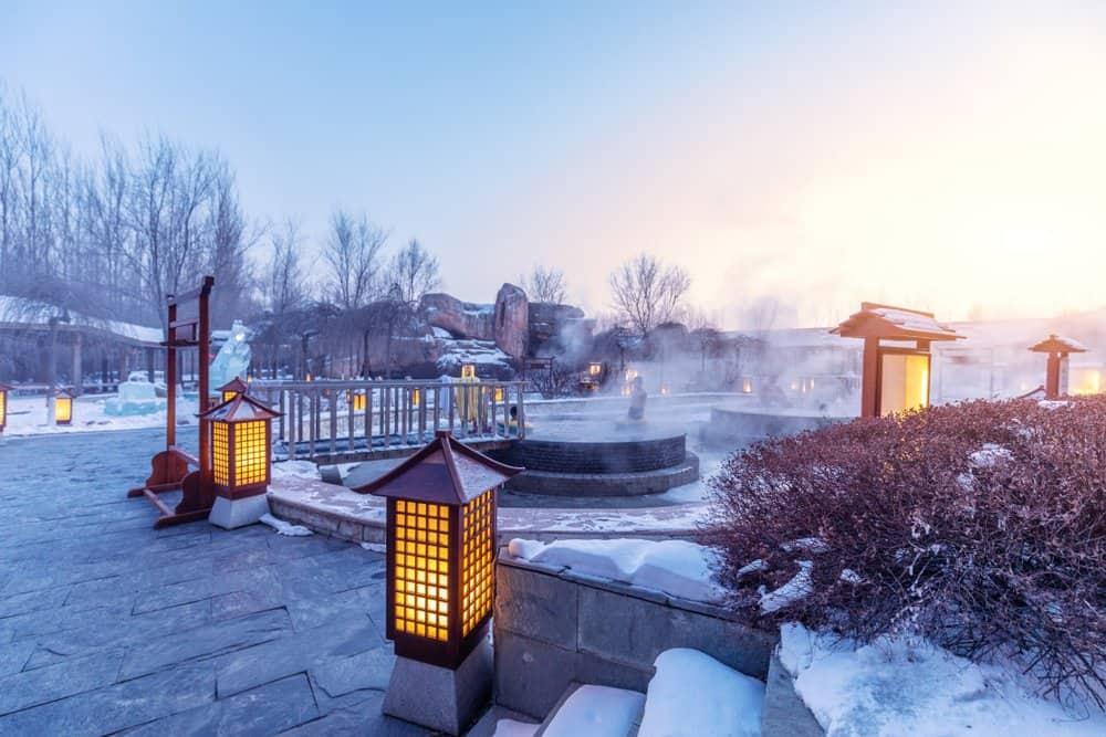 USA - Arkansas - hot springs outdoor in jilin at night