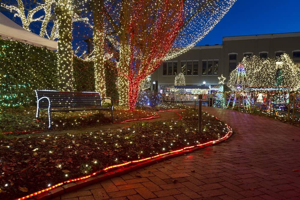 USA - Arkansas - The Lights of the Ozarks in downtown Fayetteville, Arkansas