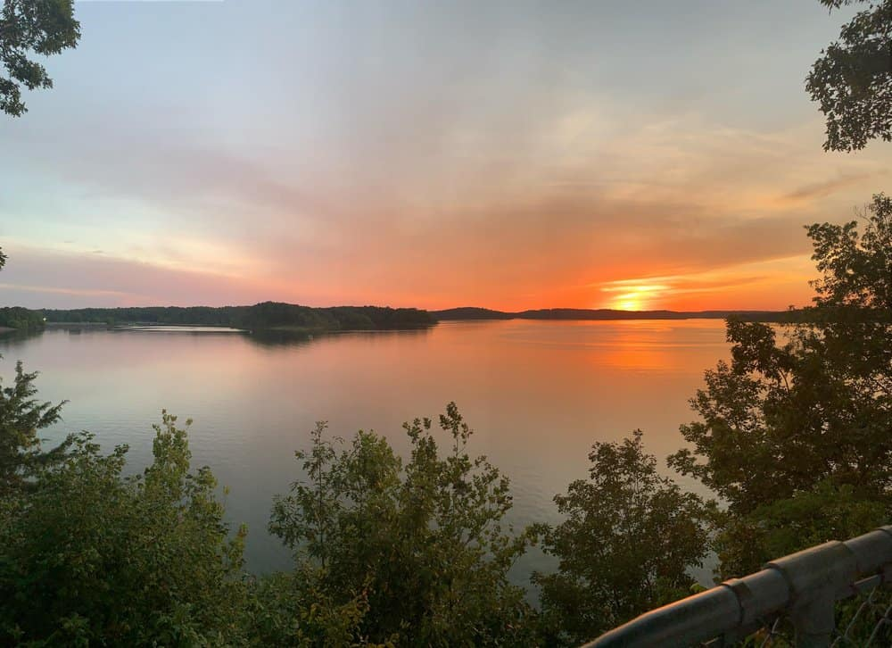 USA - Missouri - Beautiful sunset over Wappapello Lake in Missouri!