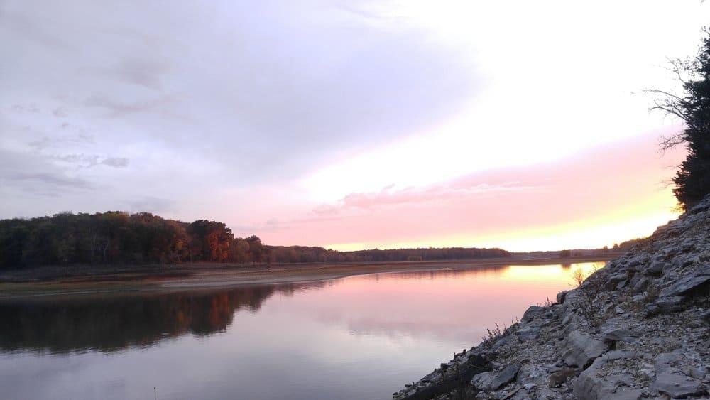 USA - Missouri - sunset in Mark Twain Lake