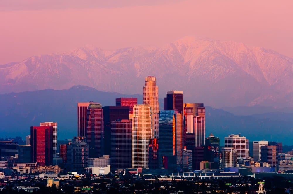 California - California - Los Angeles at sunset