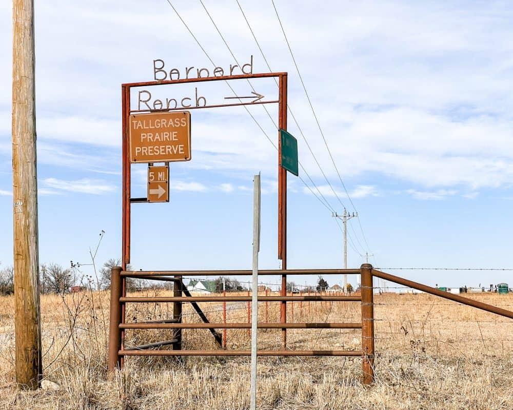 Oklahoma - Pawhuska - Bernard Ranch Sign