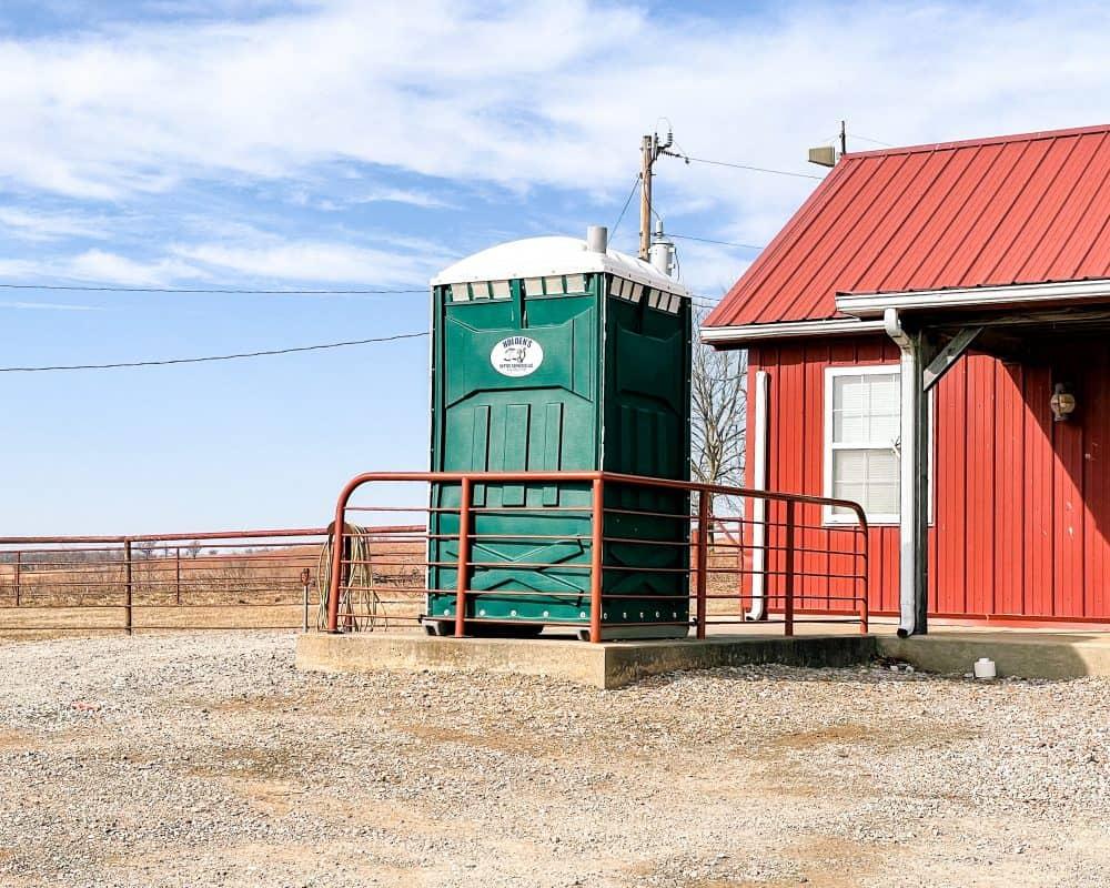 Oklahoma - Pawhuska - Tallgrass Prairie Preserve - Visitor Center Porta Pottie