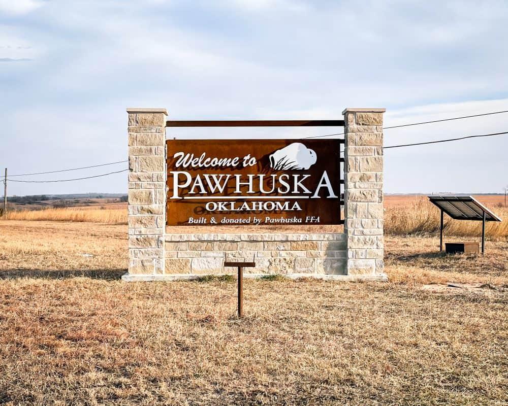 Oklahoma - Pawhuska - Welcome to Pawhuska Sign