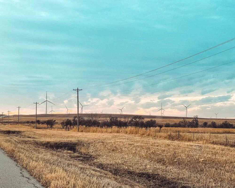 Oklahoma - Pawhuska - Windmills on the Prairie