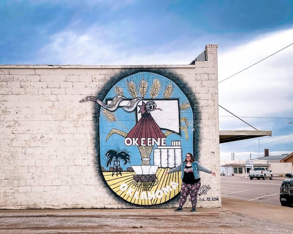 Oklahoma - Okeene - Okeene Mural Stephanie