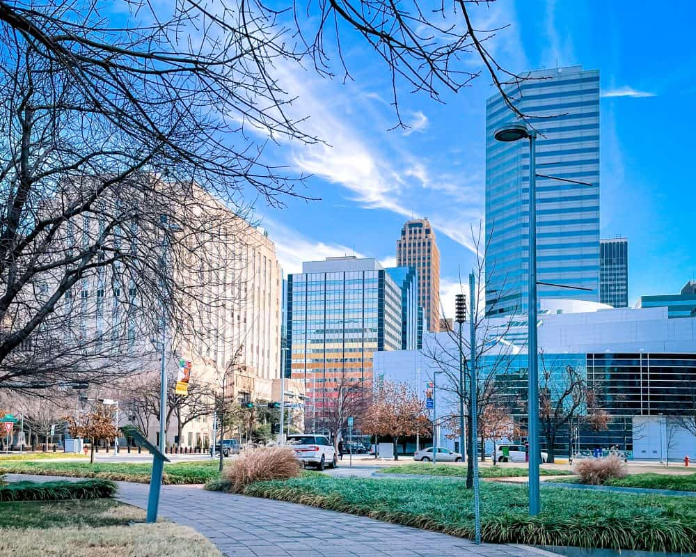 Oklahoma - Oklahoma City - Downtown OKC in Winter