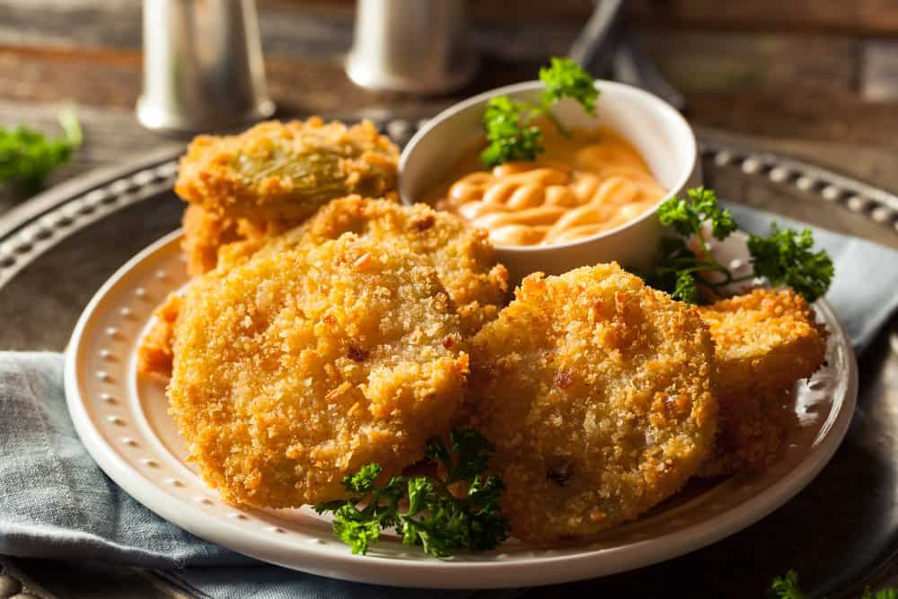 Arkansas - food and drinks - Homemade Fried Green Tomatoes Ready to Eat