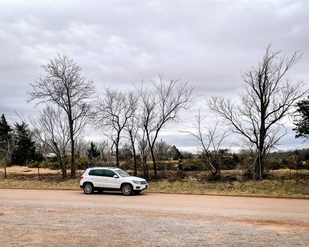 Oklahoma - Ingalls - Parking across the street