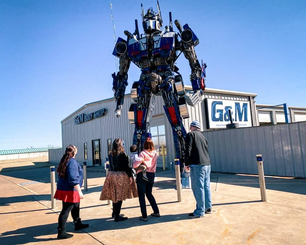 Oklahoma - Stillwater - Optimus Prime with Jordan and Stephanie