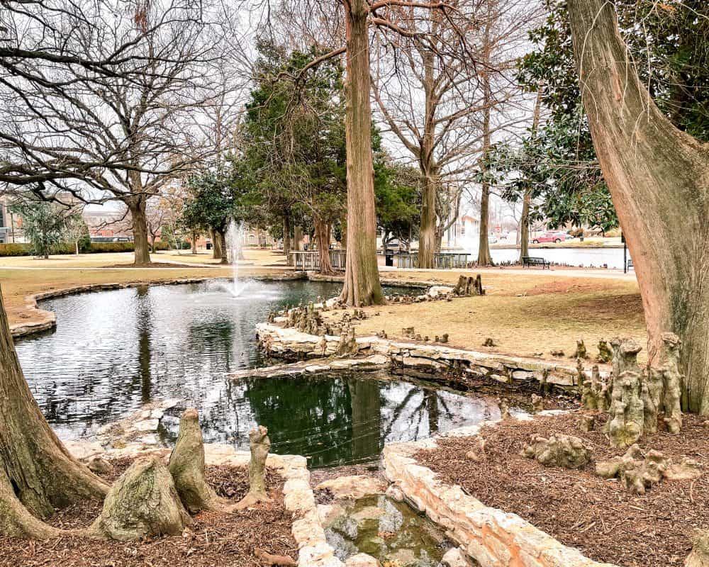 Oklahoma - Stillwater - Oklahoma State University Campus - Theta Pond