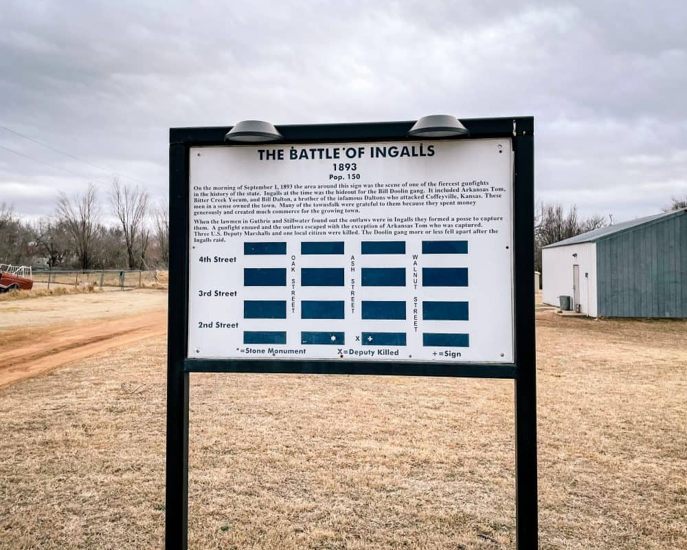 Oklahoma - Ingalls - The Battle of Ingalls Sign
