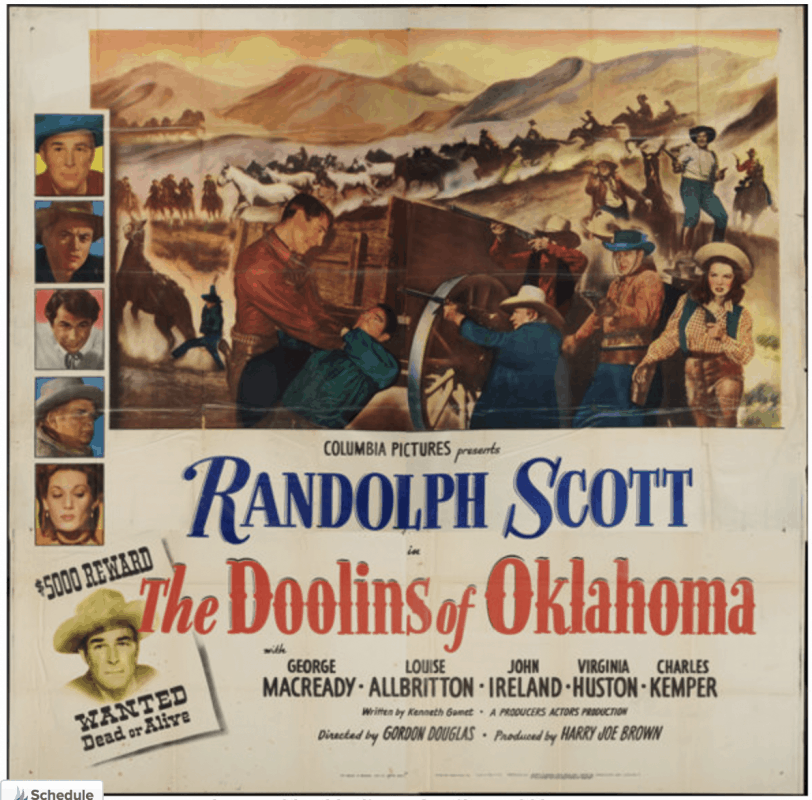 Oklahoma - Ingalls - Movie Poster for The Doolins of Oklahoma
