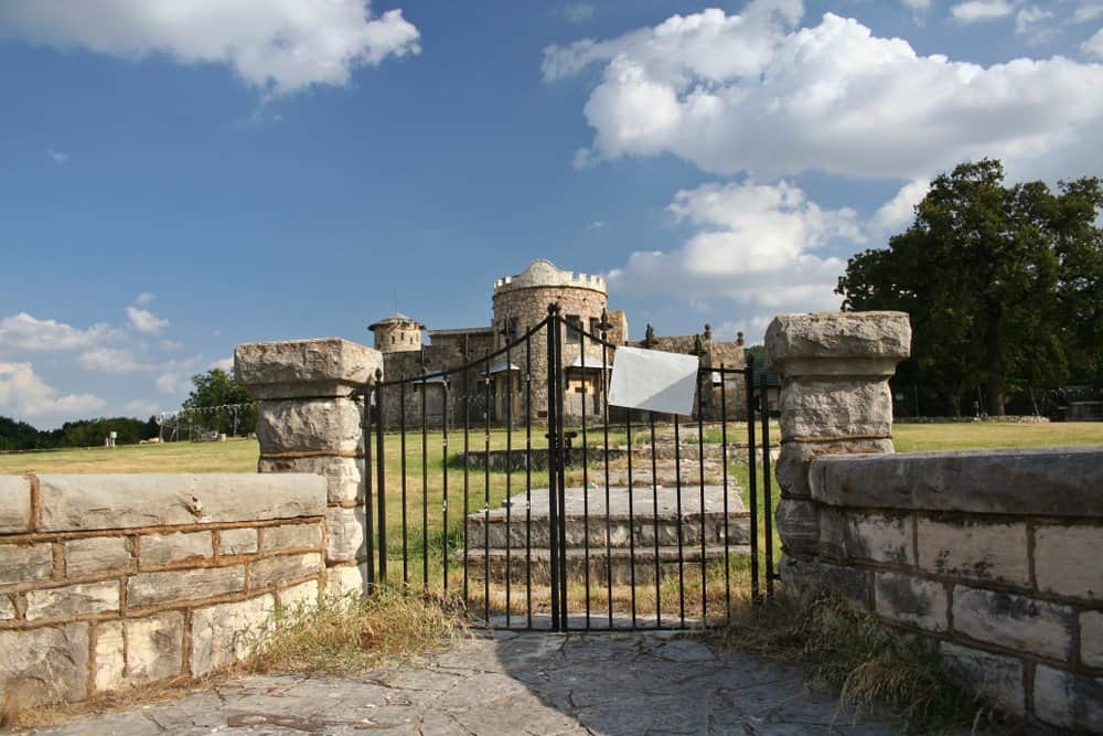 Texas - Lake Worth - Abandoned Castle with faded posted sign