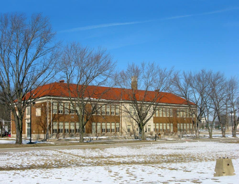 Kansas - Topeka - Monroe Elementary School, one of the four former segregated elementary schools for African American children in Topeka, USA which is now part of Brown v. Board of Education National Historic Site