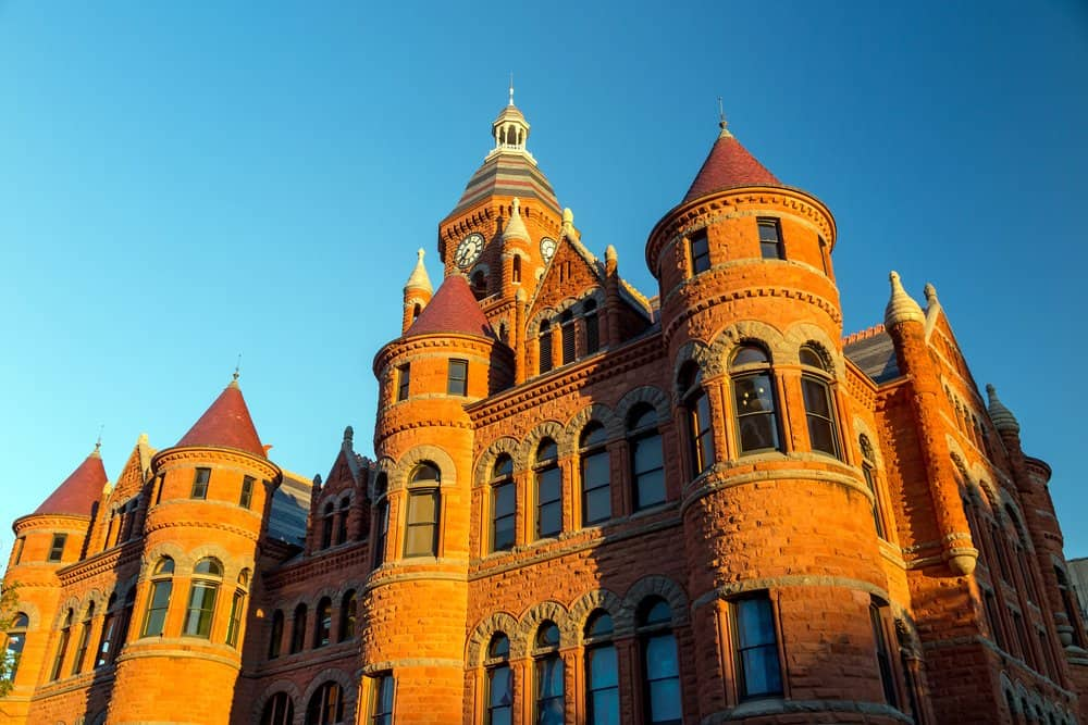 Texas - Dallas - The Dallas County Courthouse also known as the Old Red Museum