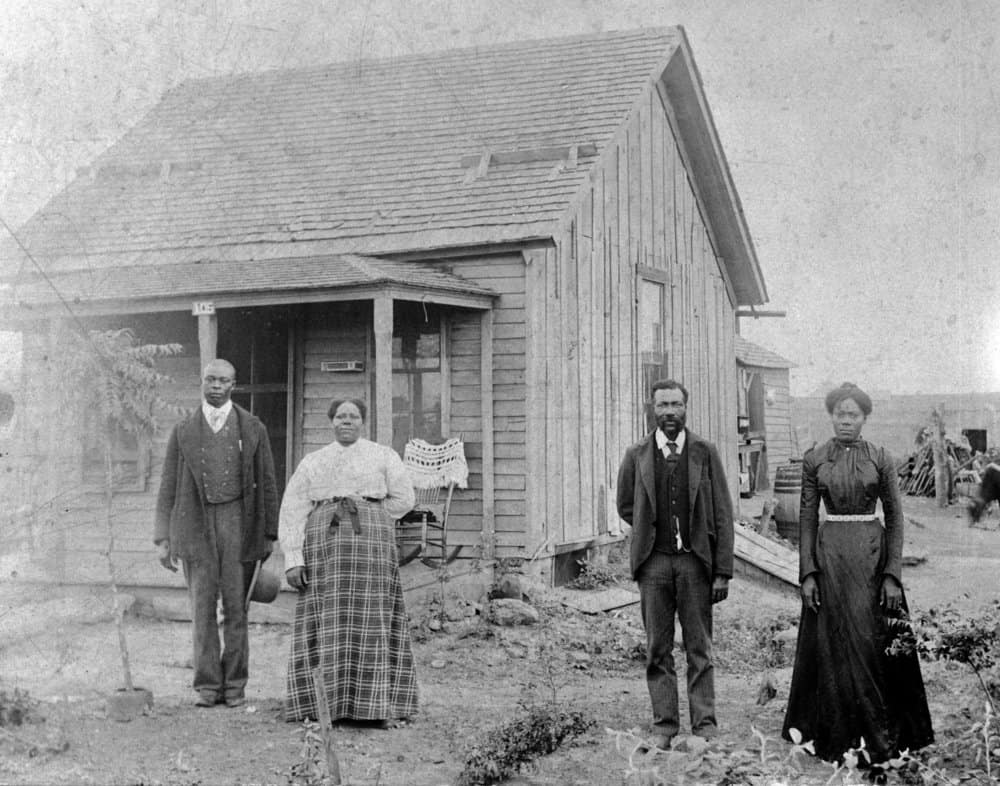 Kansas - Nicodemus, Kansas. A colony of free African Americans. Homesteaders ca. 1880-1890s