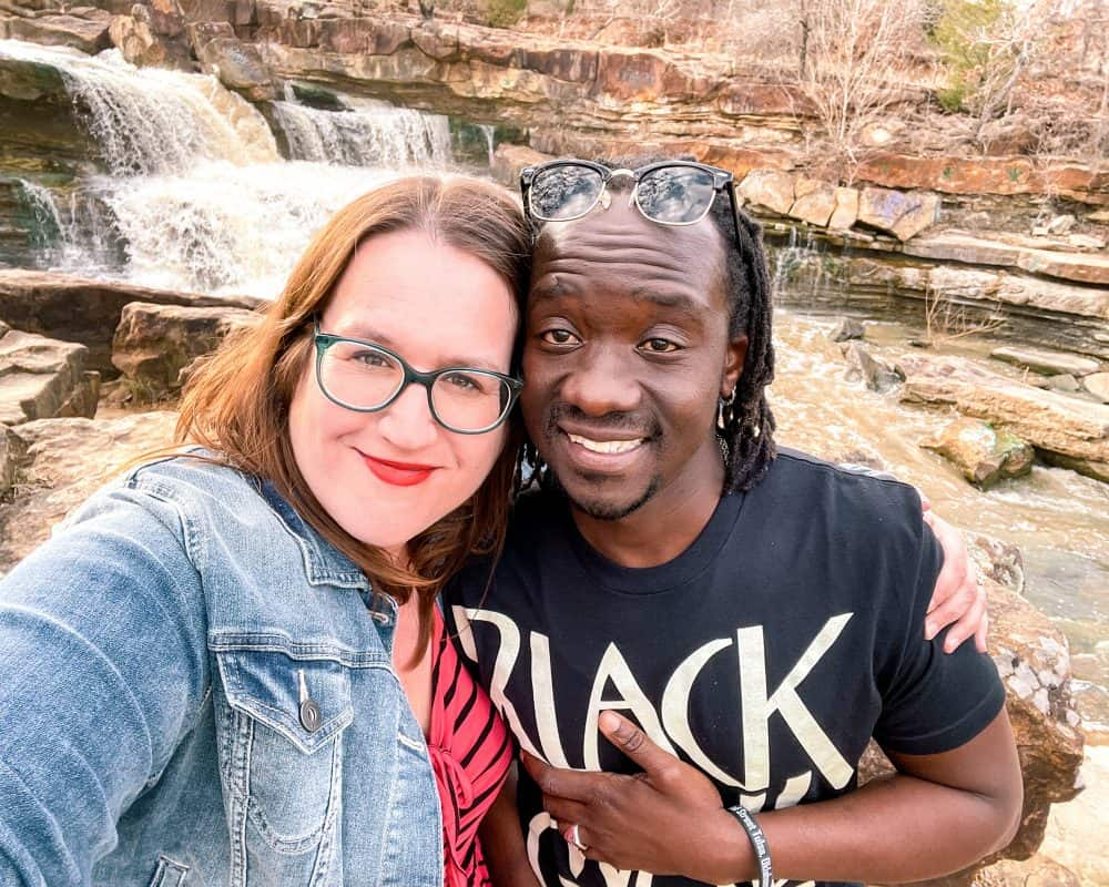 Oklahoma - Pawhuska - Bluestem Falls - Stephanie and Valentine
