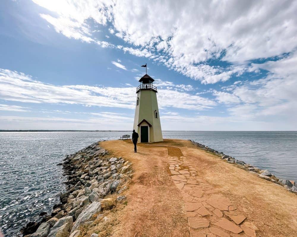 Oklahoma - Oklahoma City - Lake Hefner Lighthouse