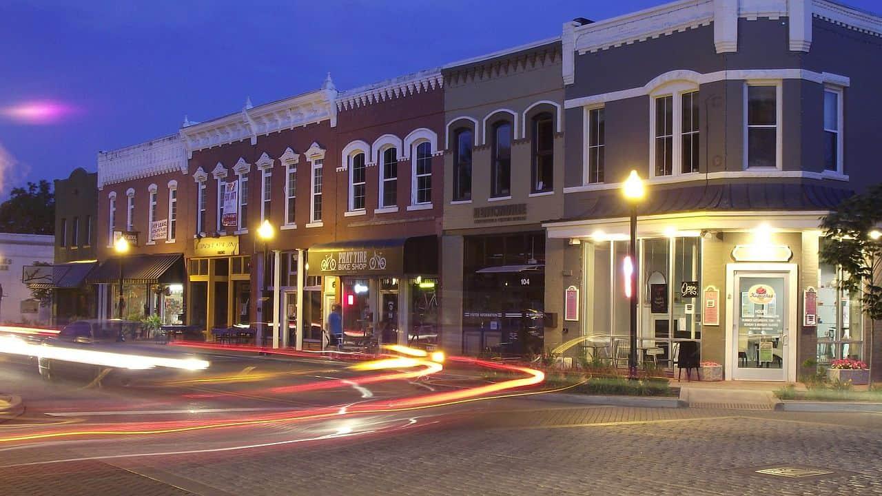 Arkansas - Bentonville - Downtown at Night